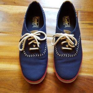 Keds Navy Canvas Baseball Inspired Shoes